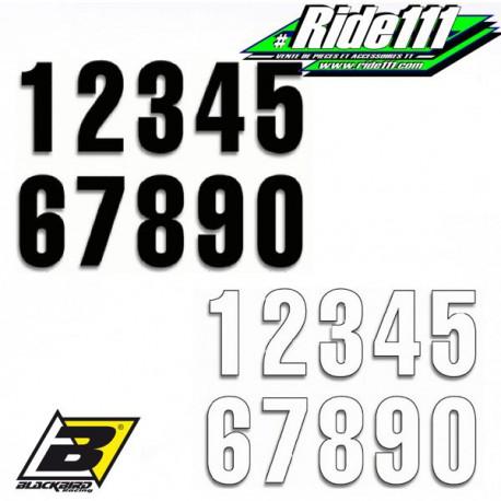 Numéros de course 130x75mm Blanc ou noir