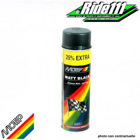 Peinture Spray Noir Mat Motip 500Ml