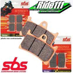 Plaquettes ou machoires de frein arrière SBS  SUZUKI DR 600 S 1985-1989