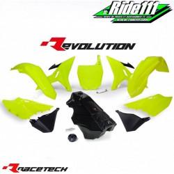 Kit RACETECH REVOLUTION YAMAHA YZ 125/250 2002-2019 Jaune Fluo / Noir