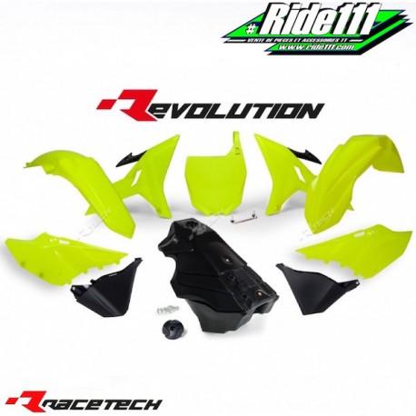 Kit RACETECH REVOLUTION YAMAHA YZ 125/250 2002-2017 Jaune Fluo / Noir
