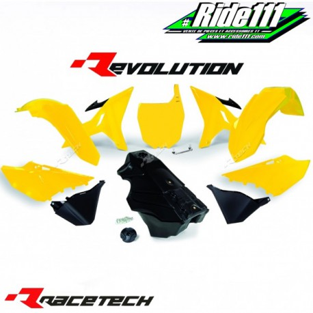 Kit RACETECH REVOLUTION YAMAHA YZ 125/250 2002-2017 Jaune / Noir