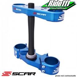 Tés de fourche SCAR CNC Bleu YAMAHA 125 YZ