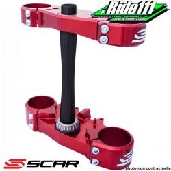 Tés de fourche SCAR CNC Rouge SUZUKI 85 RM