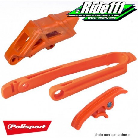 Kit Patin + Guide chaine POLISPORT KTM 125-200-250-300 EXC