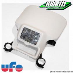 Plaque phare halogen UFO type HONDA XR Blanche
