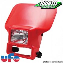Plaque phare halogen UFO type HONDA XR Rouge XR