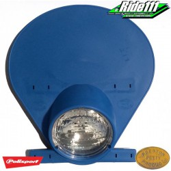 Plaque phare PRESTON PETTY Bleu Bultaco