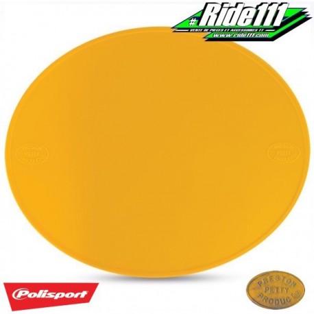 Plaque numéro frontale PRESTON PETTY jaune