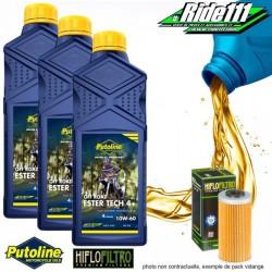 Pack vidange PUTOLINE Ester Tech Off Road 4+ 10w60 BETA RR enduro 250-40-450-525