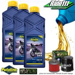 Pack vidange PUTOLINE Super DX4 10w40 HONDA 250 XR-R