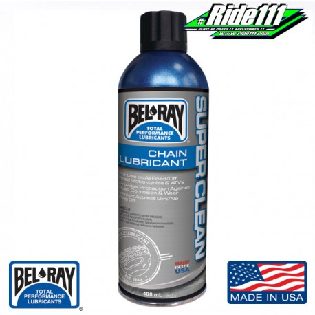 Lubrifiant chaine BEL-RAY Super Clean 400 ml