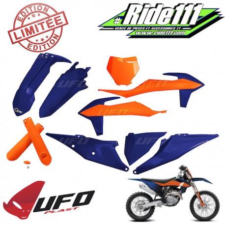 Kit plastiques UFO Bleu / Orange KTM 125 à 450 SX 2019 à 2020