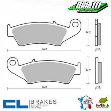 Plaquettes de frein avant ou arrière CL BRAKES GAS-GAS 250-300 EC-F   Avant ou Arrière::Avant