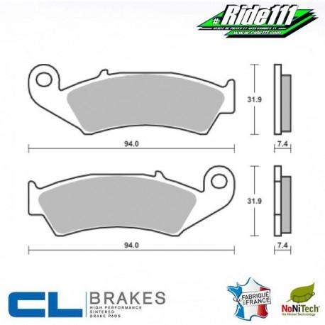 Plaquettes de frein avant ou arrière CL BRAKES HONDA 250 XR-R   Avant ou Arrière::Avant