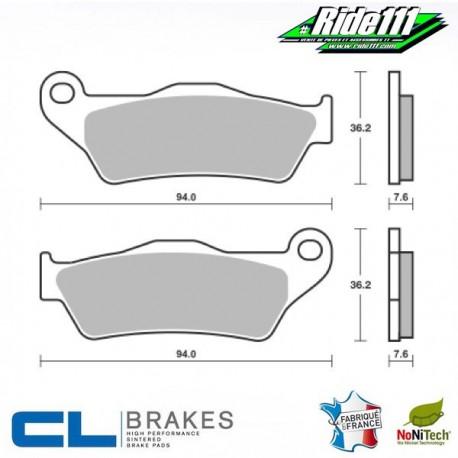 Plaquettes de frein avant ou arrière CL BRAKES KTM 250 à 525 CROSS 4 Temps  Avant ou Arrière::Avant
