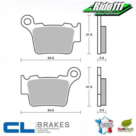 Plaquettes de frein avant ou arrière CL BRAKES 250 à 300 SHERCO Enduro  Avant ou Arrière::Arrière