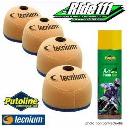 Filtres à air TECNIUM X4 + Spray PUTOLINE YAMAHA 250 YZ
