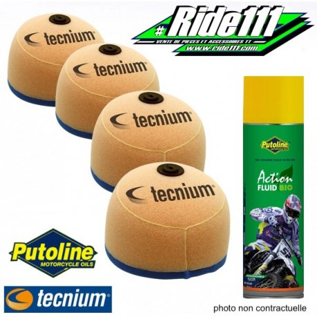 Filtres à air TECNIUM X4 + Spray PUTOLINE YAMAHA 400-426 YZF - WRF