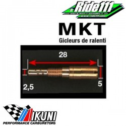 Gicleurs MIKUNI MKT à + 2