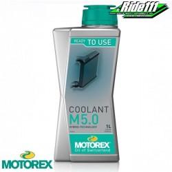 """Liquide de refroidissement """"COOLANT M 5,0"""" MOTOREX 1L à + 2"""