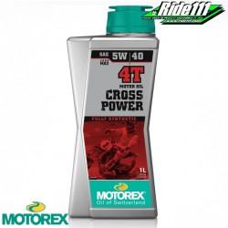 Huile moteur MOTOREX 5W40 CROSS POWER 4T 100% synthéthique 1L à + 2