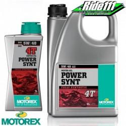 Huile moteur MOTOREX 5W40 POWER SYNT 4T 100% synthétique à + 2