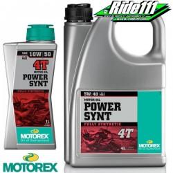 Huile moteur MOTOREX 10W50 POWER SYNT 4T 100% synthétique à + 2