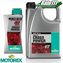 Huile moteur MOTOREX 10W60 CROSS POWER 4T 100% synthétique à + 2