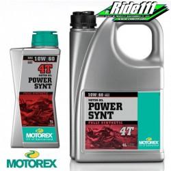 Huile moteur MOTOREX 10W60 POWER SYNT 4T 100% synthétique à + 2