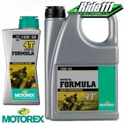 Huile moteur MOTOREX 15W50 FORMULA 4T semi-synthétique à + 2