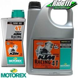 Huile moteur MOTOREX 20W60 KTM RACING 4T 100% synthétique à + 2
