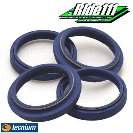 Kit 2 joints spi de fourche + 2 caches poussière TECNIUM Blue Label SUZUKI 250 RM  à + 2