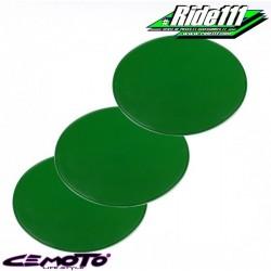 Kit 3 plaques numéro ovales CEMOTO vertes
