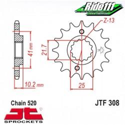 Pignon de sortie de boite JT HONDA NX 650 DOMINATOR à + 2