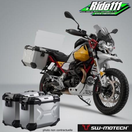 Kit valises SW-MOTECH TRAX Adventure Grises MOTO GUZZI V85 TT à + 2