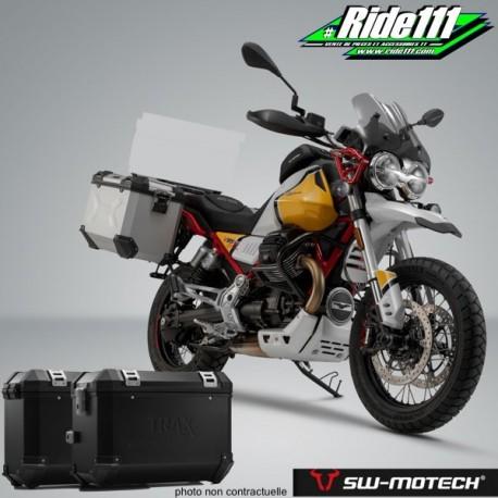 Kit valises SW-MOTECH TRAX ION MOTO GUZZI V85 TT à + 2