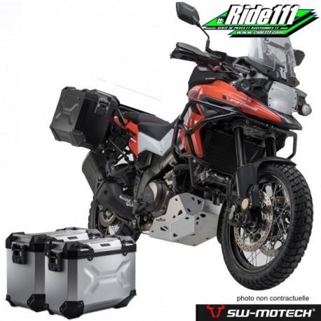 Kit valises SW-MOTECH TRAX Adventure Grises SUZUKI V-STROM 1050 XT à + 2