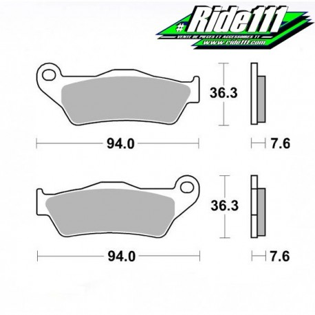 Plaquettes de frein BREMBO arrière KTM 890 ADVENTURE Rally à + 2