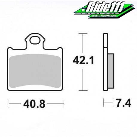 Plaquettes de frein BREMBO HUSQVARNA 85 TC Avant ou Arrière::Arrière à + 2